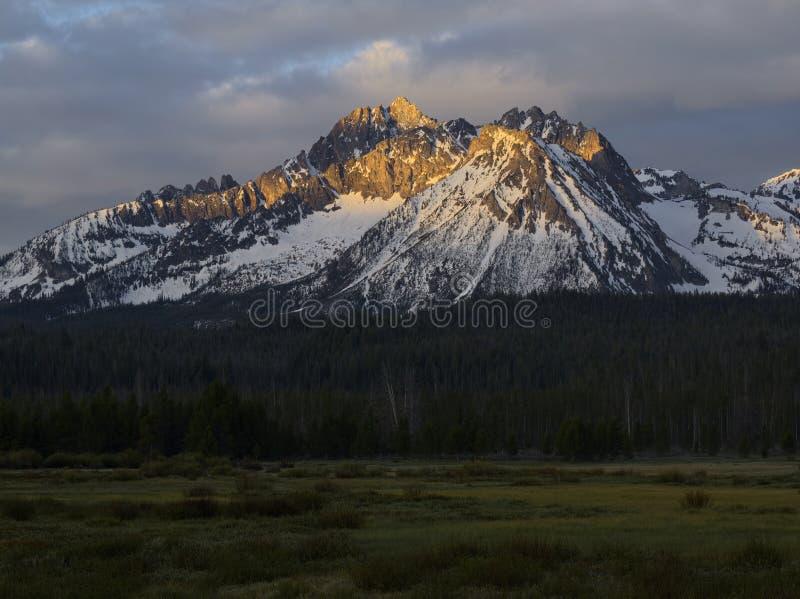 Williams Peak. Sawtooth Mountains, Idaho stock photo
