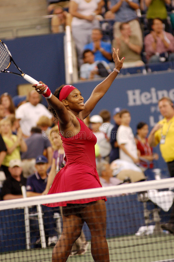 Williams Serena aux USA ouvrent 2008 (15) photos stock