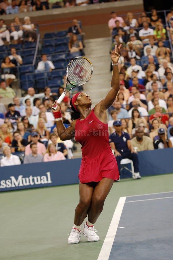 Williams Serena in US öffnen 2008 (5) stockfotografie