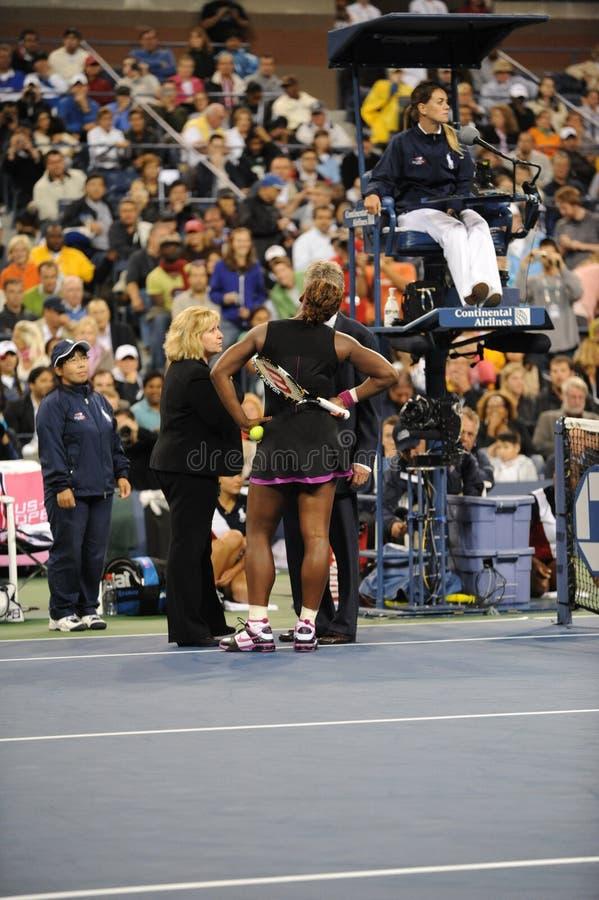 Williams Serena in US öffnen 2009 (17) stockfotografie