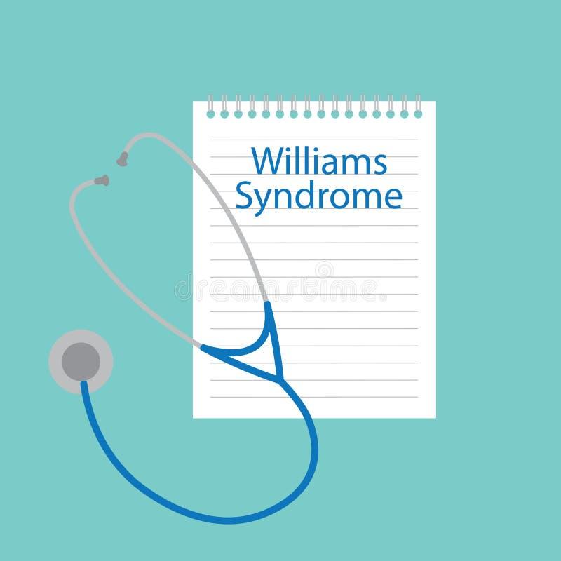 Williams Syndrome escrito em um caderno ilustração stock