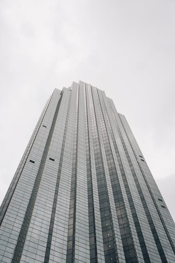 Williams Tower, een moderne wolkenkrabber in Houston, Texas stock afbeeldingen