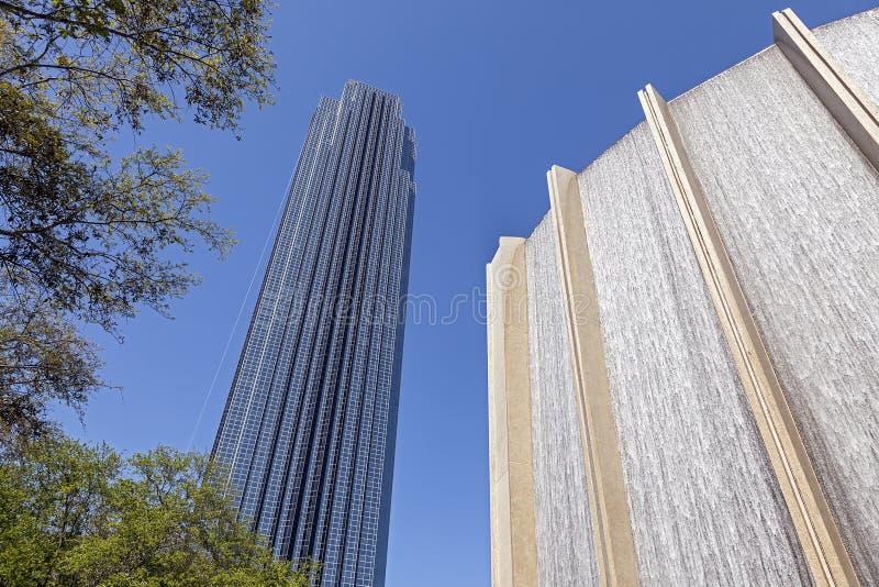 Williams Tower in Houston, Texas royalty-vrije stock foto's