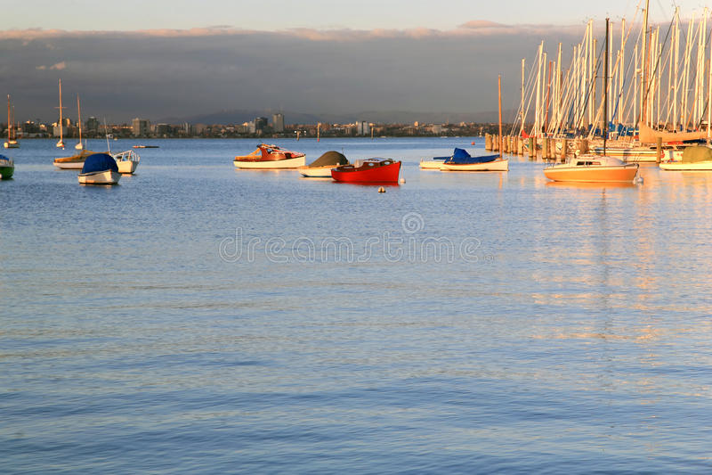 Williams Town's Marina,Melbourne royalty free stock photos