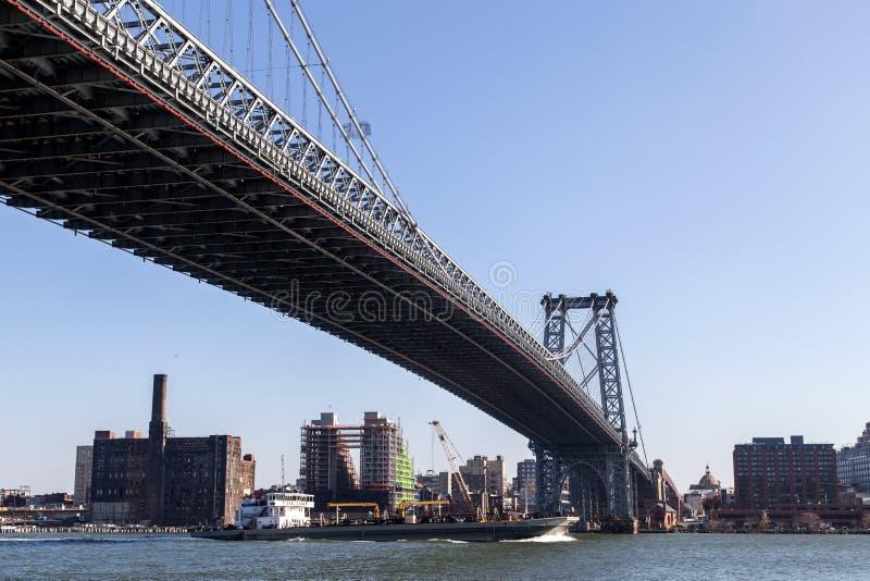 Williamsburg-Brücke in Manahattan, New York lizenzfreie stockfotografie