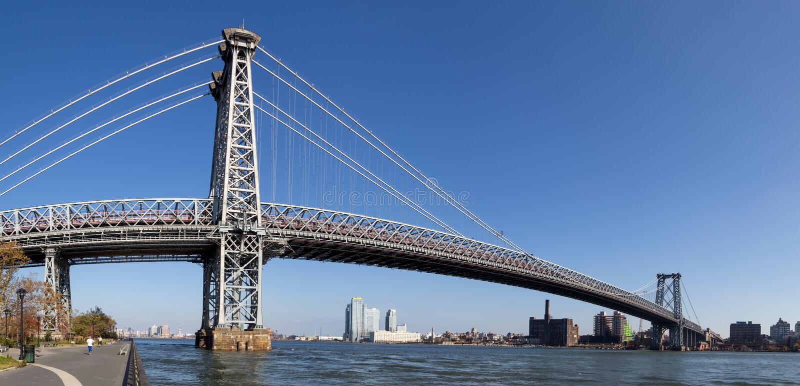 Williamsburg-Brücke in Manahattan, New York stockfotografie