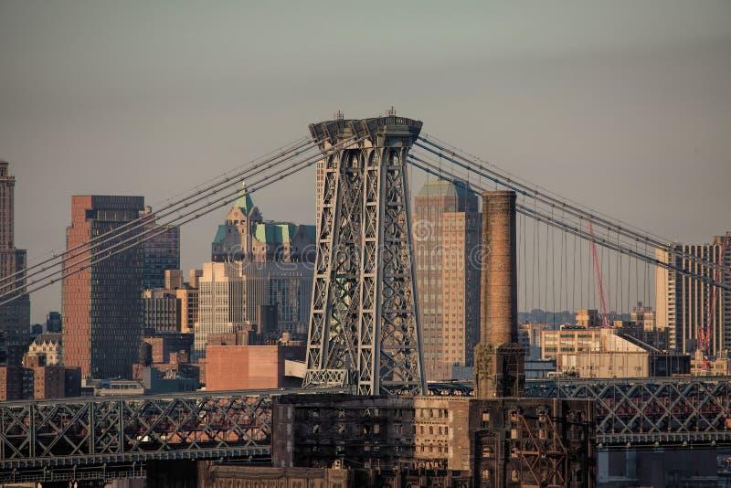 Williamsburg Bridge Connecting Brooklyn en Manhattan royalty-vrije stock foto