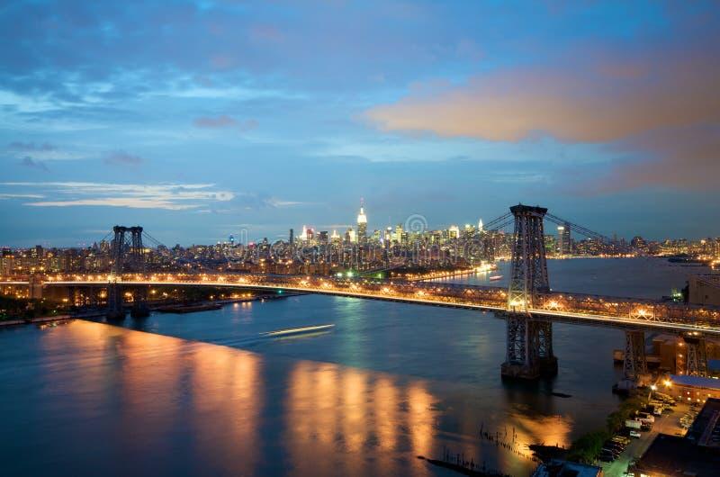Williamsburg Bridge in New York royalty free stock photo