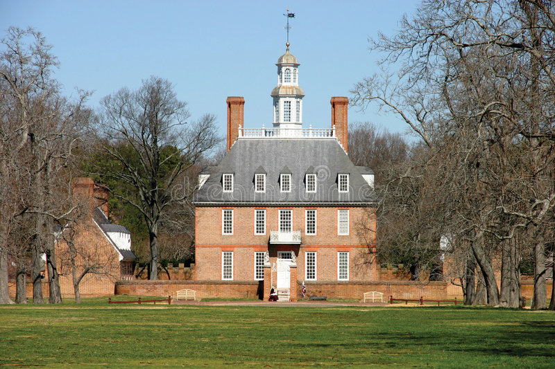 Williamsburg colonial images stock