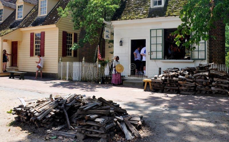 Williamsburg colonial, Virgínia, EUA imagens de stock