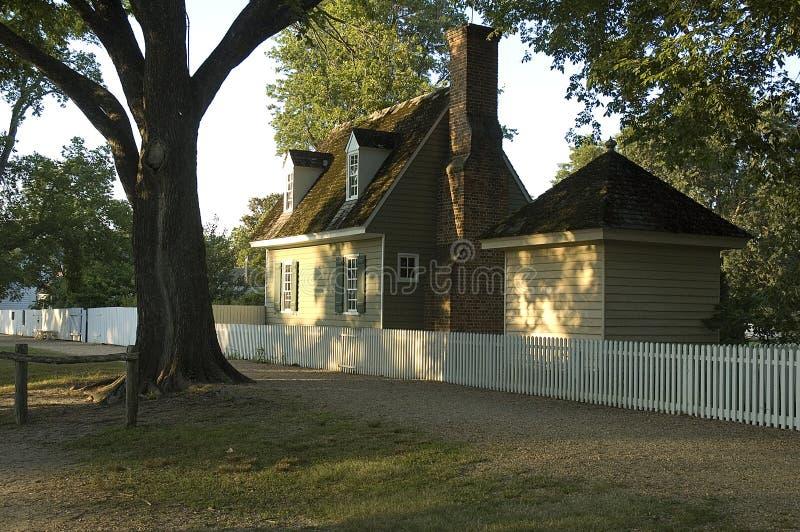 Williamsburg koloniinvånareutgångspunkt 免版税库存照片