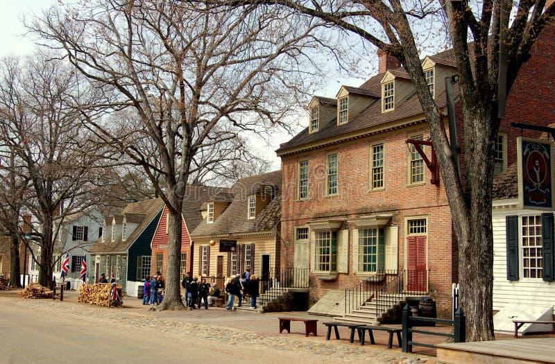 Williamsburg, VA: View along Duke of Gloucester St stock photo