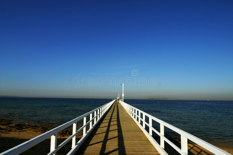 Williamstown Jetty. Shot at Victoria - Australia royalty free stock photography