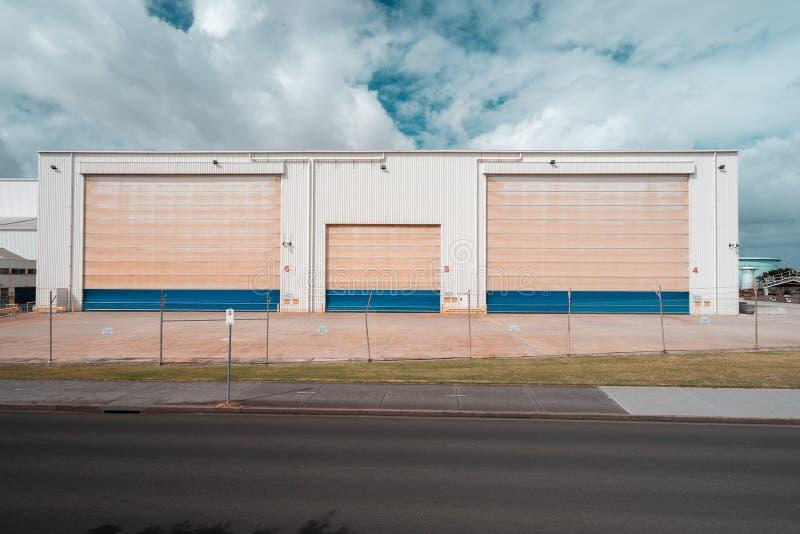 Williamstown, Melbourne, Australia - Przemysłowy magazyn zdjęcie royalty free