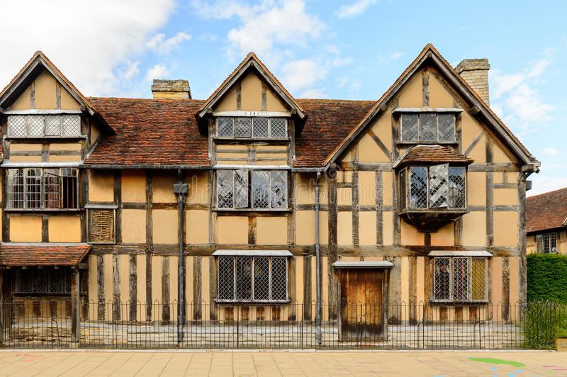 Willian Shakespeare Birthplace, Stratford on Avon, England, Unit. STRATFORD UPON AVON, ENGLAND - JULY 10, 2016: Willian Shakespeare Birthplace. It was called a royalty free stock image