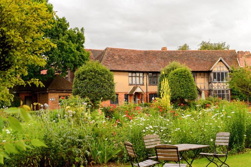 Willian Shakespeare Birthplace, Stratford en Avon, Inglaterra, unidad imagenes de archivo