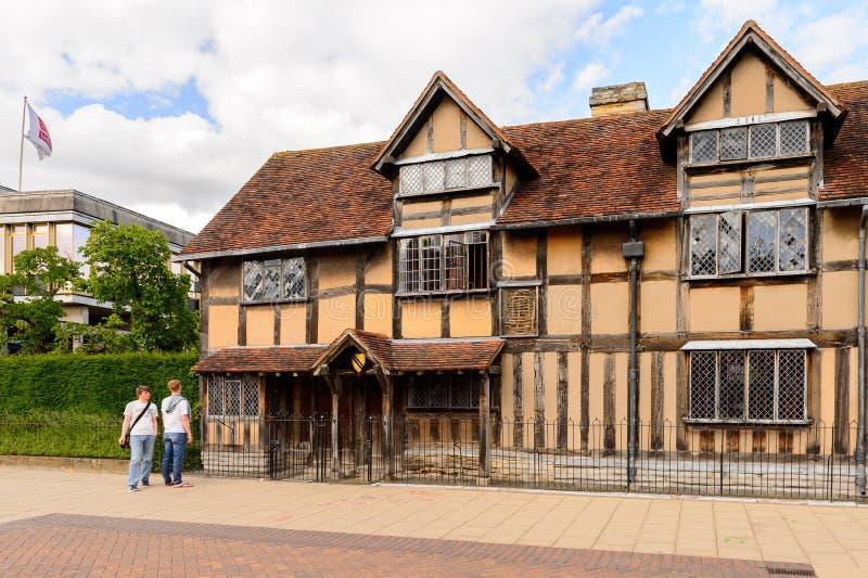 Willian Szekspir miejsce narodzin, Stratford na Avon, Anglia, jednostka obraz stock