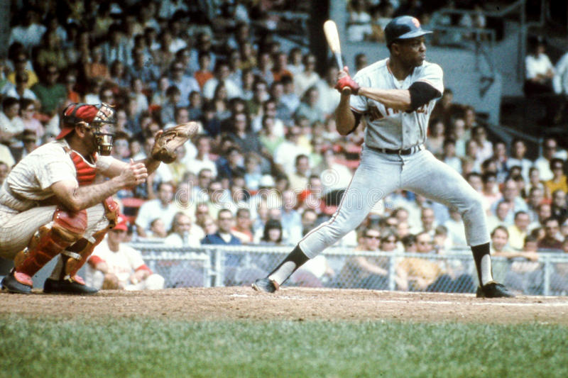 Willie Mays, San Francisco Giants stockfotos