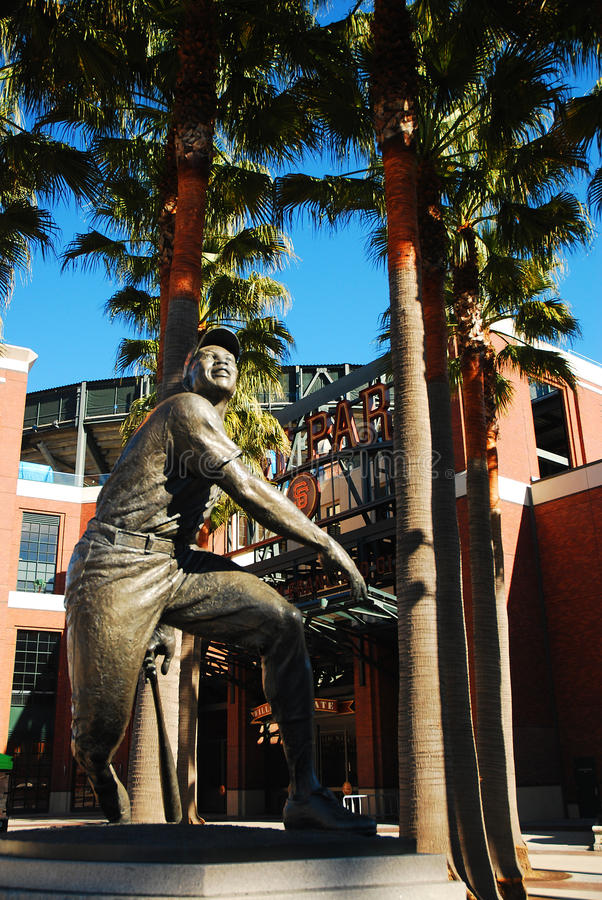 Willie Mays, San Francisco Giants imagem de stock royalty free