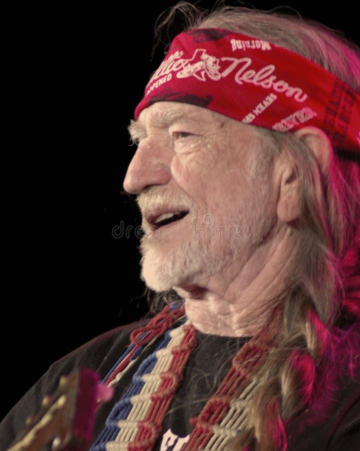 Willie Nelson au rouge oscille l'amphithéâtre #2 images libres de droits