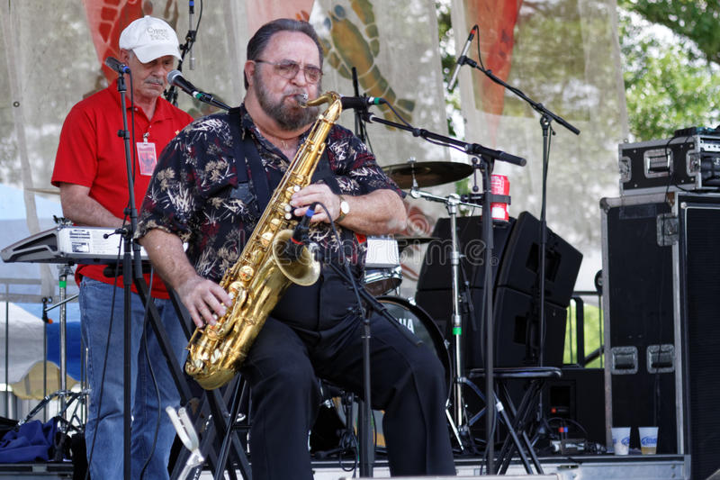 Willie Tee en zijn Band stock afbeelding