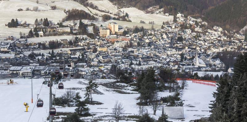 Willingen Germania da sopra nell'inverno fotografia stock