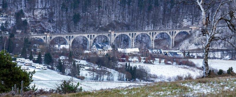 Willingen Germania del viadotto nell'inverno immagine stock