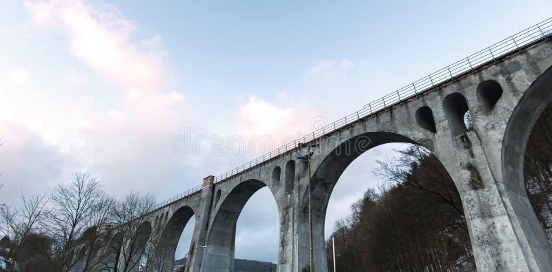 Willingen Germania del viadotto nell'inverno immagini stock