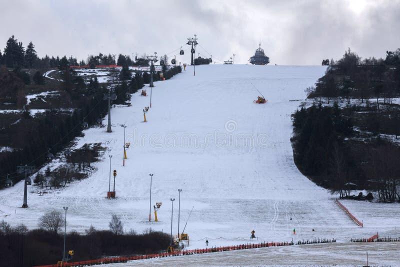Willingen Germania della montagna dello sci di Ettelsberg fotografia stock