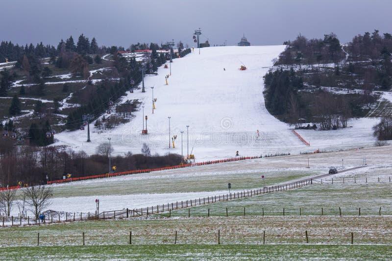 Willingen Germania della montagna dello sci di Ettelsberg immagine stock libera da diritti