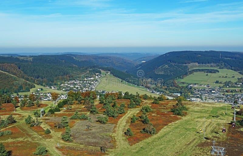 Willingen nella regione di Sauerland (Germania) fotografia stock