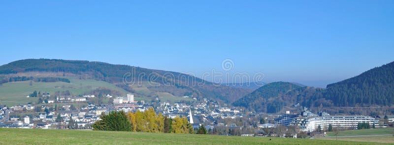 Willingen Sauerland, Tyskland arkivbild