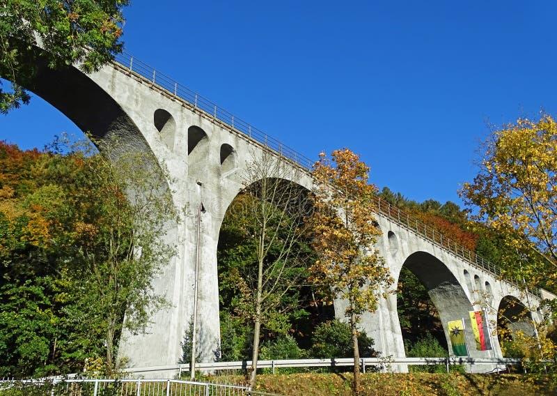 Willingen viadukt (Sauerland/Tyskland) royaltyfri bild