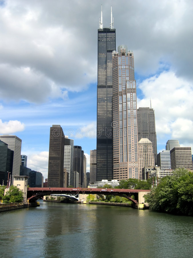 Willis or Sears Tower in Chicago royalty free stock photography