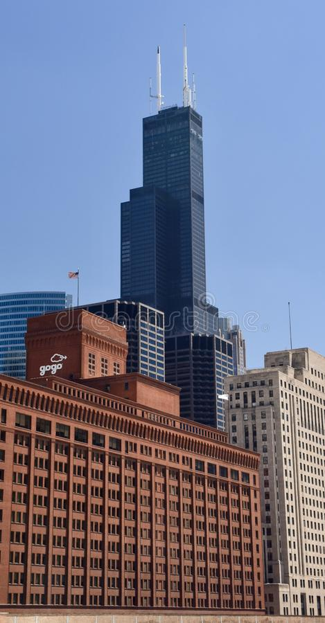 Willis Tower Looming royalty-vrije stock foto