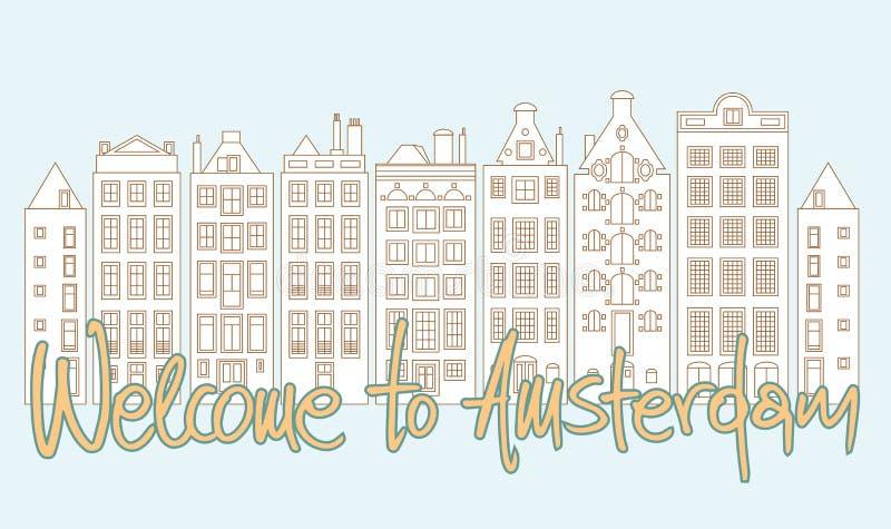 Willkommen nach Amsterdam vektor abbildung