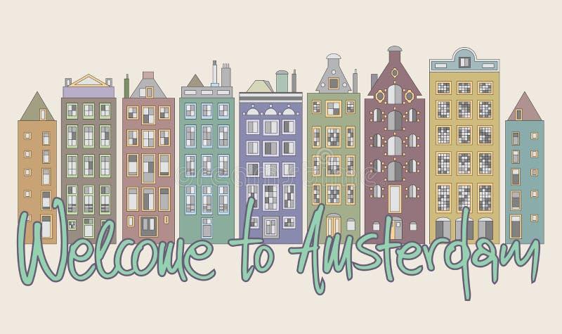 Willkommen nach Amsterdam stock abbildung