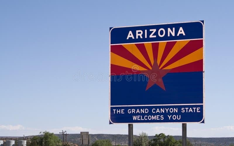 Willkommen nach Arizona lizenzfreie stockfotos