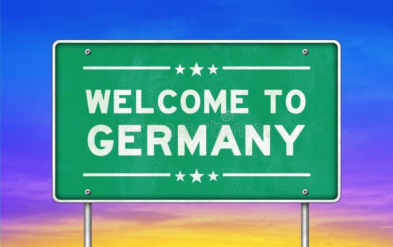 Willkommen nach Deutschland stock abbildung