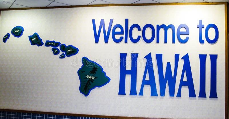 Willkommen nach Hawaii lizenzfreie stockfotografie