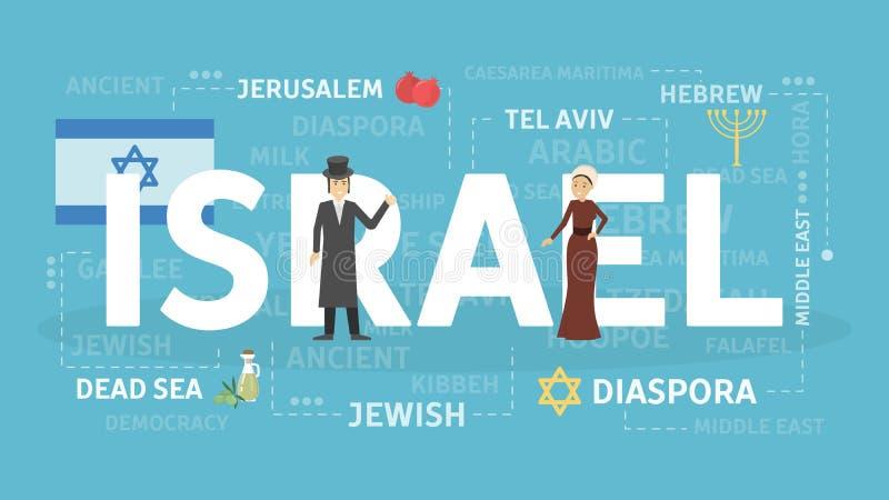Willkommen nach Israel vektor abbildung