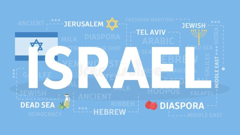 Willkommen nach Israel stock abbildung