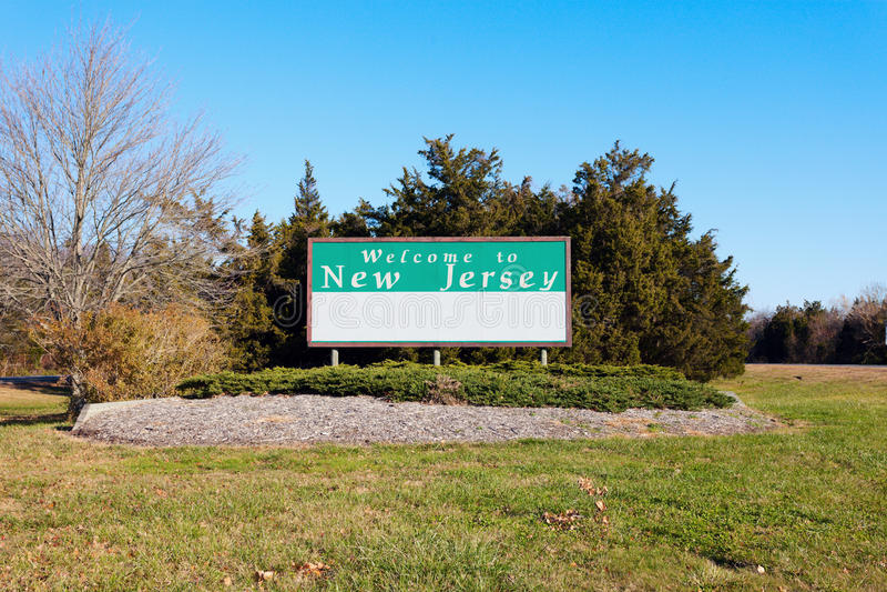 Willkommen nach New-Jersey stockbild