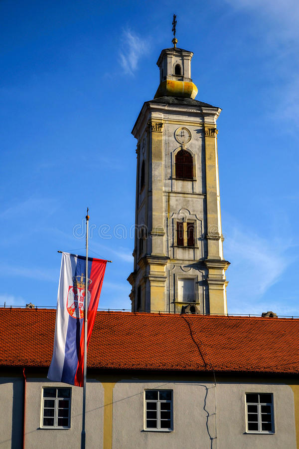 Willkommen nach Serbien stockbilder
