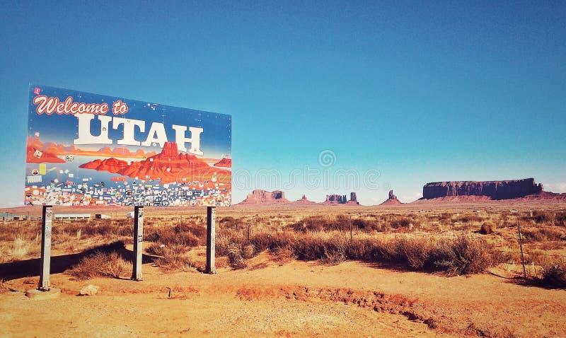 Willkommen nach Utah lizenzfreie stockfotos