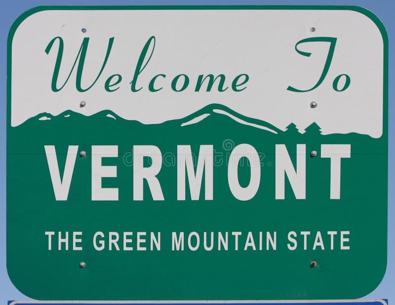 Willkommen nach Vermont lizenzfreie stockfotos