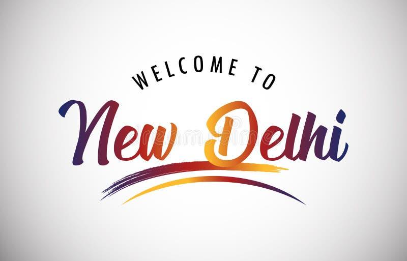 Willkommen in Neu Delhi stock abbildung