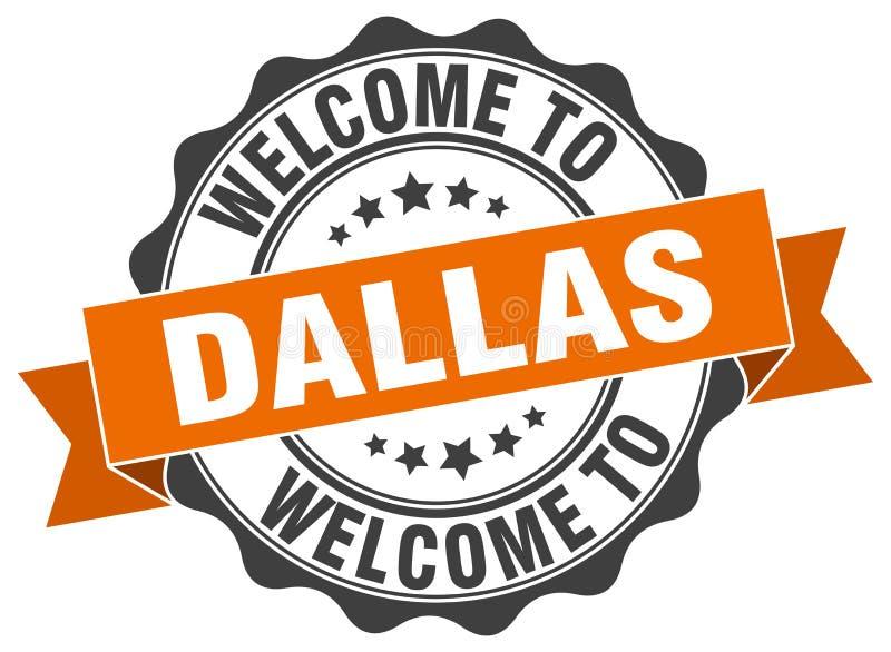 Willkommen zu Dallas-Dichtung lizenzfreie abbildung
