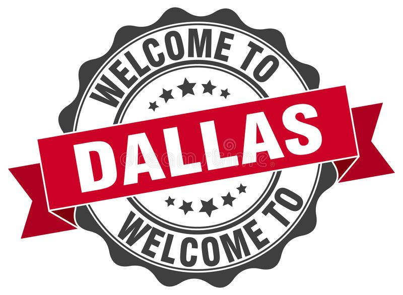 Willkommen zu Dallas-Dichtung vektor abbildung