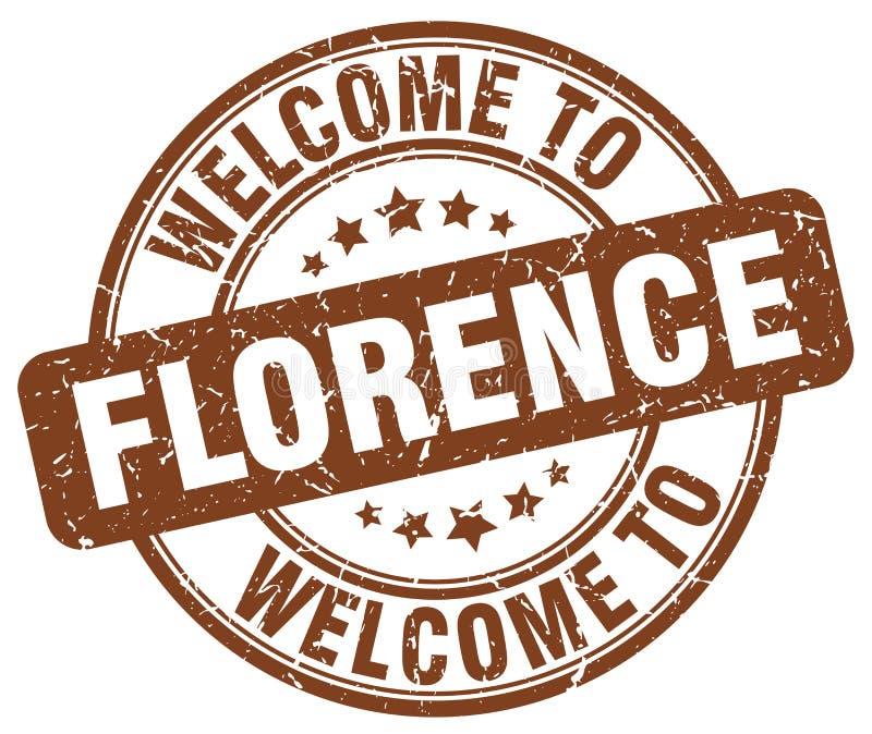Willkommen zu Florenz-Stempel stock abbildung